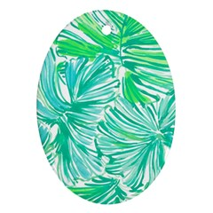 Painting Leafe Green Summer Ornament (oval)