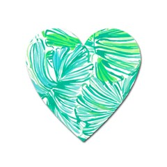 Painting Leafe Green Summer Heart Magnet by AnjaniArt
