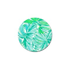 Painting Leafe Green Summer Golf Ball Marker