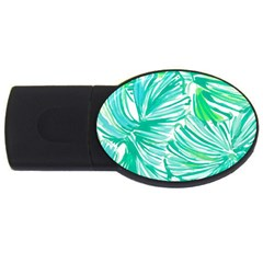 Painting Leafe Green Summer Usb Flash Drive Oval (2 Gb)