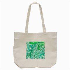Painting Leafe Green Summer Tote Bag (cream)