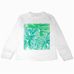 Painting Leafe Green Summer Kids Long Sleeve T Shirts