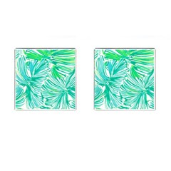 Painting Leafe Green Summer Cufflinks (square) by AnjaniArt