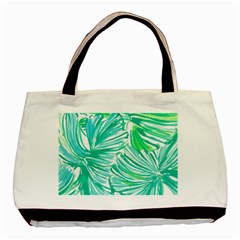 Painting Leafe Green Summer Basic Tote Bag (two Sides)