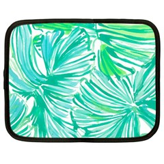 Painting Leafe Green Summer Netbook Case (large) by AnjaniArt