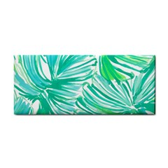 Painting Leafe Green Summer Hand Towel