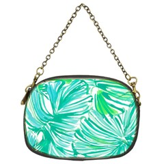 Painting Leafe Green Summer Chain Purse (two Sides)