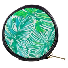 Painting Leafe Green Summer Mini Makeup Bag