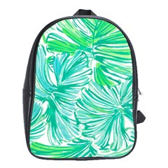 Painting Leafe Green Summer School Bag (large)