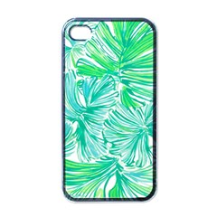 Painting Leafe Green Summer Apple Iphone 4 Case (black) by AnjaniArt