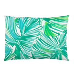 Painting Leafe Green Summer Pillow Case (two Sides)