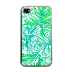 Painting Leafe Green Summer Apple Iphone 4 Case (clear)
