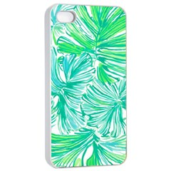 Painting Leafe Green Summer Apple Iphone 4/4s Seamless Case (white)