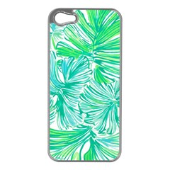 Painting Leafe Green Summer Apple Iphone 5 Case (silver) by AnjaniArt