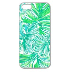 Painting Leafe Green Summer Apple Seamless Iphone 5 Case (clear)