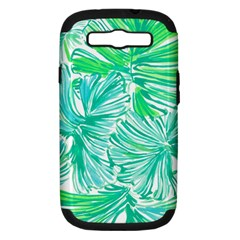 Painting Leafe Green Summer Samsung Galaxy S Iii Hardshell Case (pc+silicone)