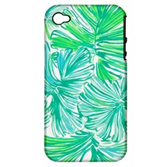 Painting Leafe Green Summer Apple Iphone 4/4s Hardshell Case (pc+silicone) by AnjaniArt