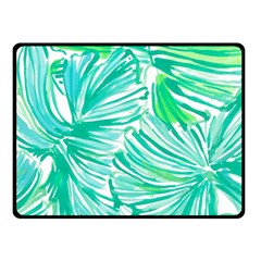 Painting Leafe Green Summer Double Sided Fleece Blanket (small)
