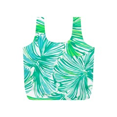 Painting Leafe Green Summer Full Print Recycle Bag (s)