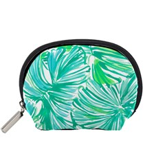 Painting Leafe Green Summer Accessory Pouch (small)