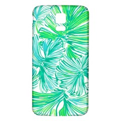 Painting Leafe Green Summer Samsung Galaxy S5 Back Case (white)