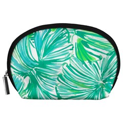 Painting Leafe Green Summer Accessory Pouch (large) by AnjaniArt