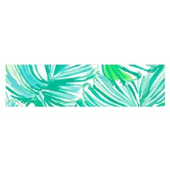Painting Leafe Green Summer Satin Scarf (oblong)