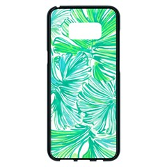 Painting Leafe Green Summer Samsung Galaxy S8 Plus Black Seamless Case