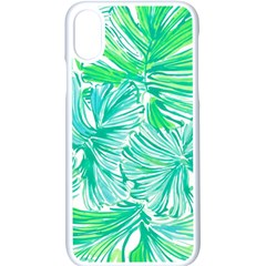 Painting Leafe Green Summer Apple Iphone X Seamless Case (white) by AnjaniArt