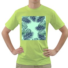 Tropical Leaves Green Leaf Green T Shirt by AnjaniArt