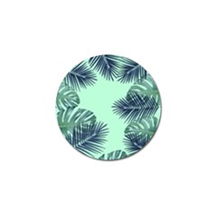 Tropical Leaves Green Leaf Golf Ball Marker (4 Pack)