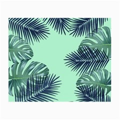 Tropical Leaves Green Leaf Small Glasses Cloth (2 Side)