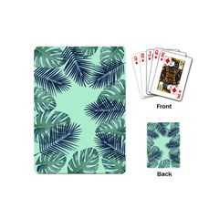Tropical Leaves Green Leaf Playing Cards (mini)