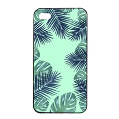 Tropical Leaves Green Leaf Apple Iphone 4/4s Seamless Case (black)