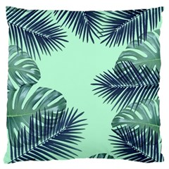 Tropical Leaves Green Leaf Large Cushion Case (two Sides)