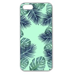 Tropical Leaves Green Leaf Apple Seamless Iphone 5 Case (clear) by AnjaniArt