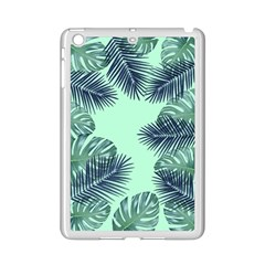Tropical Leaves Green Leaf Ipad Mini 2 Enamel Coated Cases by AnjaniArt
