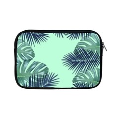 Tropical Leaves Green Leaf Apple Ipad Mini Zipper Cases by AnjaniArt