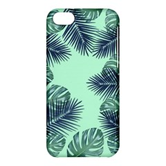 Tropical Leaves Green Leaf Apple Iphone 5c Hardshell Case by AnjaniArt