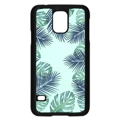Tropical Leaves Green Leaf Samsung Galaxy S5 Case (black) by AnjaniArt