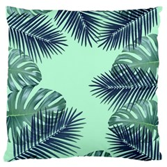 Tropical Leaves Green Leaf Standard Flano Cushion Case (one Side) by AnjaniArt