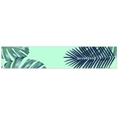 Tropical Leaves Green Leaf Large Flano Scarf  by AnjaniArt