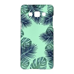 Tropical Leaves Green Leaf Samsung Galaxy A5 Hardshell Case  by AnjaniArt