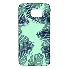 Tropical Leaves Green Leaf Samsung Galaxy S6 Hardshell Case