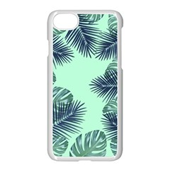 Tropical Leaves Green Leaf Apple Iphone 7 Seamless Case (white) by AnjaniArt