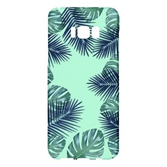 Tropical Leaves Green Leaf Samsung Galaxy S8 Plus Hardshell Case