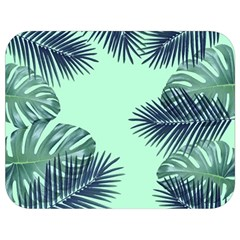 Tropical Leaves Green Leaf Full Print Lunch Bag by AnjaniArt