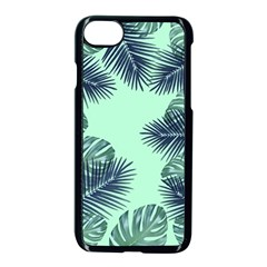 Tropical Leaves Green Leaf Apple Iphone 8 Seamless Case (black) by AnjaniArt