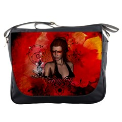 The Fairy Of Music Messenger Bag by FantasyWorld7