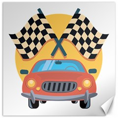 Automobile Car Checkered Drive Canvas 16  X 16  by Samandel